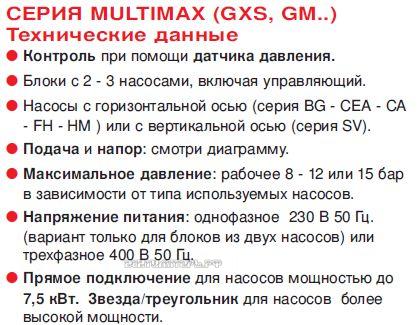 Lowara GXS установки
