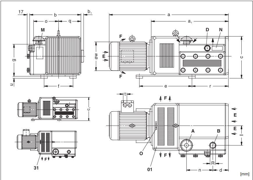 Схема  компрессора Elmo Rietschle V-DTA 80