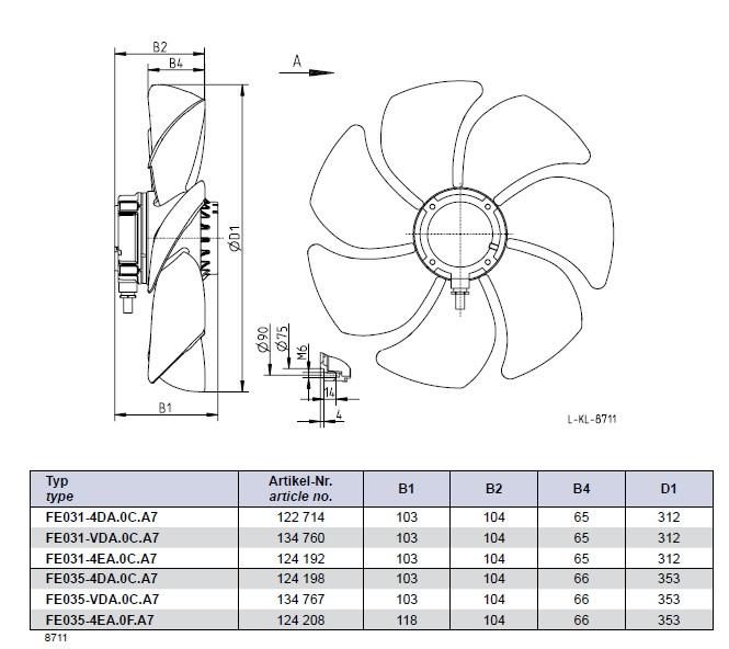 Осевые вентиляторы схема соединений