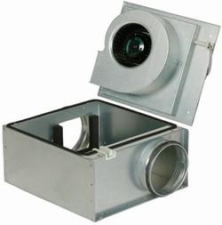 Вентилятор Systemair KVO 100 центробежный шумоизолированный канальный