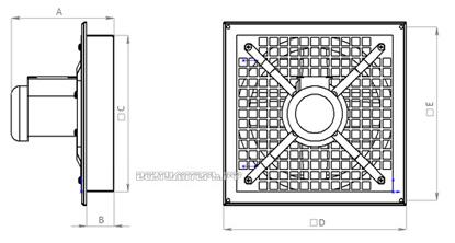Присоединительные размеры и габариты ВО-5,6 380В